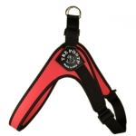 Harness Small/Medium Dogs in Red Adjustable on the Belly