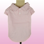 Pink Polo Tee for Small Dogs