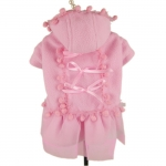 Pink Candy Fleece Dog Coat
