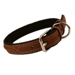 Soft Leather Collar for Dogs in Brown