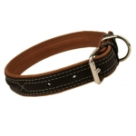 Soft Leather Collar for Dogs in Black