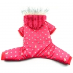 4 legged Snowsuit for Dogs in Magenta