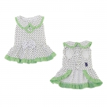 Melania Dog Dress in White with Polka Dots