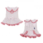 Melania Dog Dress in Pink with Polka Dots
