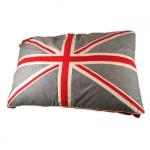 Cuscino per Cani con Bandiera Inglese Vintage