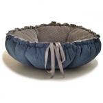Cuccia/Cuscino per Cane Kalendula Blu e Grigio