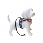 Small Dog Harness with Lace with American Flag