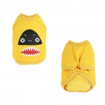 Shark Yellow Sweatshirt for Small Dog