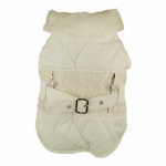 Janet Winter Coat for Small Dog in White