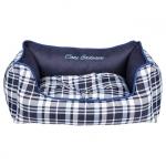 Panier Amovible pour Chien avec Design écossais Bleu