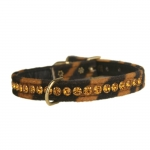 Tiger Striped Collar with Strass for Small Dogs