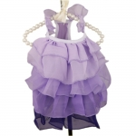 Dress for Small Dogs with Ruffles in Lavender
