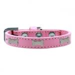 Collar Perros Pequeños en Rosa Claro con Huesos