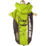 Green Bully Nylon Raincoat for Small Dogs