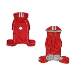 4 Legs Raincoat with Detachable Hood for Small Dog in Red