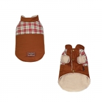 Brown Coat for Small Dogs with Plush Inside