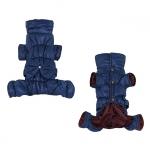 Salopettes d'hiver avec Arc Petits Chiens en Bleu