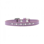 Lavender Collar for Small Dog with Rhinestones and Pearls