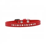 Red Collar for Small Dog with Rhinestones and Pearls
