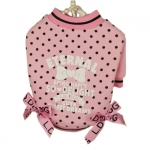 Sweat-shirt Rose à pois pour Chiens Sweet Dreams