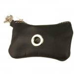 Dog Waste Bag Dispenser in Black Calfskin