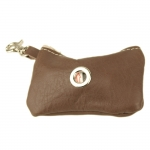 Dog Waste Bag Dispenser in Brown Calfskin