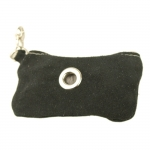 Dog Waste Bag Dispenser in Black Suede