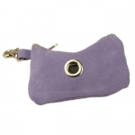 Dog Waste Bag Dispenser in Purple Suede