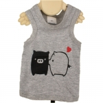 Piggy Kiss Grey Dog Summer Vest