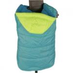 Abrigo Impermeable Perros en Azul con Capucha Verde Fluo