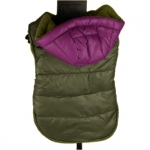 Waterproof Coat for Dogs in Green with Purple Hood