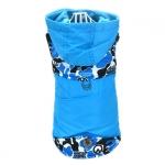 Cappotto per Cane Piccolo in Blu Camouflage