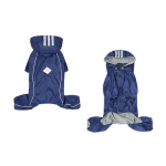 4 Legs Raincoat with Detachable Hood for Small Dog in Blue