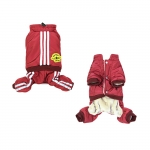 Red Aviator Winter Suit for Small Dog