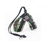 Very Soft Harness for Small Dogs in Green Camo