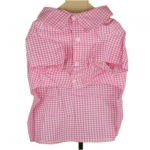 Check Pink Dog Dress Shirt