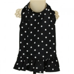 Audrey Black Dotted Dog Dress
