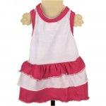 Ipanema Dog Dress, White and Fuchsia