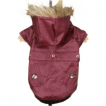 Shiny Dog Jacket in Amaranth Red