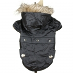 Glossy Dog Jacket in Black