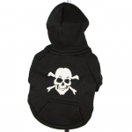 Black Dog Hoodie with Skull