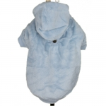 Velvety Light Blue Hoodies for Big Dogs