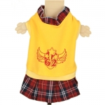 Yellow Dog Dress with Scottish Kilt