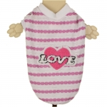 Breathable Dog T-Shirt - Love Pink